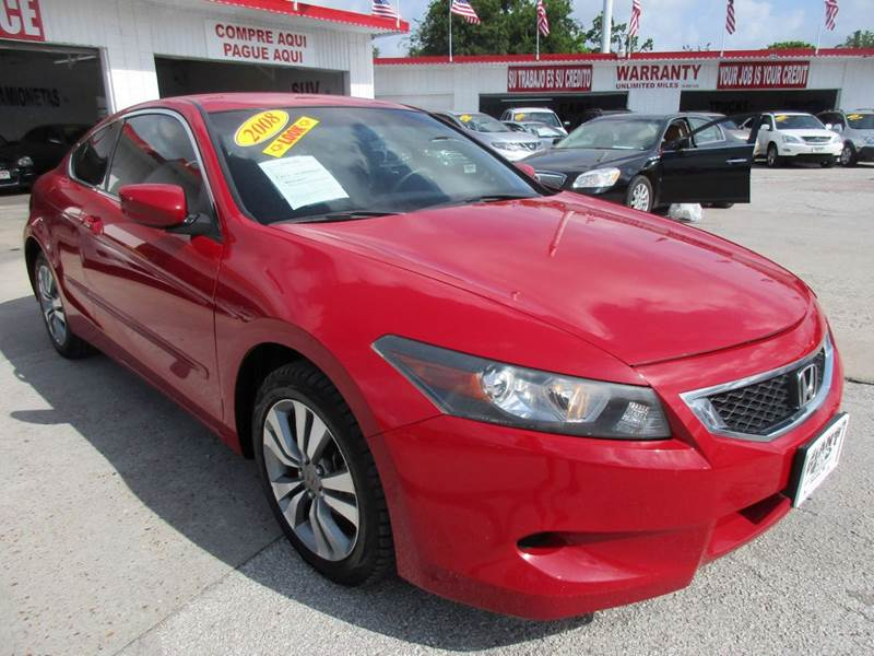 2008 HONDA ACCORD LX-S 2DR COUPE 5A red very nice with an excellent ride and drive abs - 4-wheel