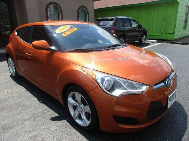 2012 HYUNDAI VELOSTER BASE 3DR COUPE WBLACK SEATS orange 2-stage unlocking doors abs - 4-wheel