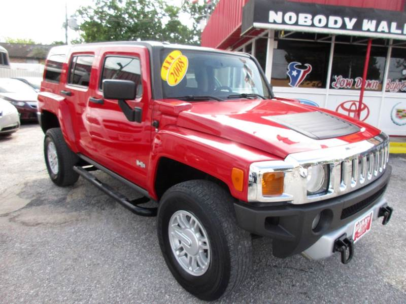 2008 HUMMER H3 4X4 4DR SUV red low mileage and just a rock solid ride and drive interior and exter