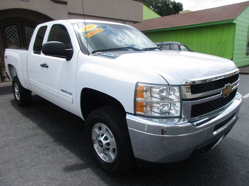 2013 CHEVROLET SILVERADO 2500HD LT 4X4 4DR EXTENDED CAB LB white 1 owner vehicle history report w
