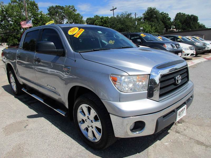 2009 TOYOTA TUNDRA SR5 4X2 4DR CREWMAX CAB SB 57L gray 2-stage unlocking doors abs - 4-wheel