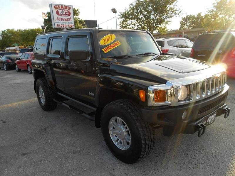 2007 HUMMER H3 LUXURY 4DR SUV 4WD black very capable off-road smooth highway ride stable handlin