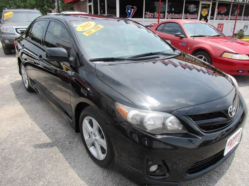 2011 TOYOTA COROLLA S 4DR SEDAN 5M black nobody walks is our signature motto and that simply mea