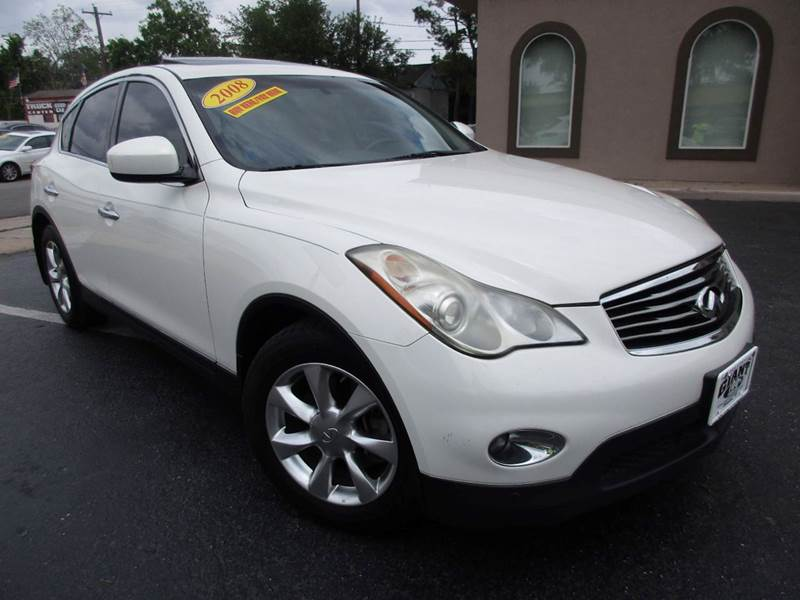 2008 INFINITI EX35 JOURNEY 4DR CROSSOVER white 2-stage unlocking doors abs - 4-wheel active hea