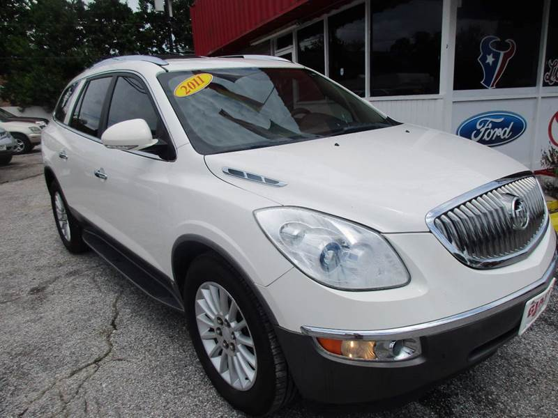 2011 BUICK ENCLAVE CXL-1 4DR SUV W1XL white quad captains chairs navigation and the right color c