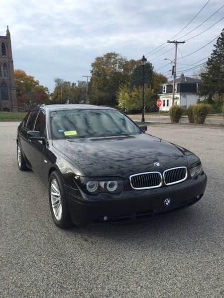 2005 bmw 7 series 745li 4dr sedan in dedham ma lucine 39 s auto sales. Black Bedroom Furniture Sets. Home Design Ideas