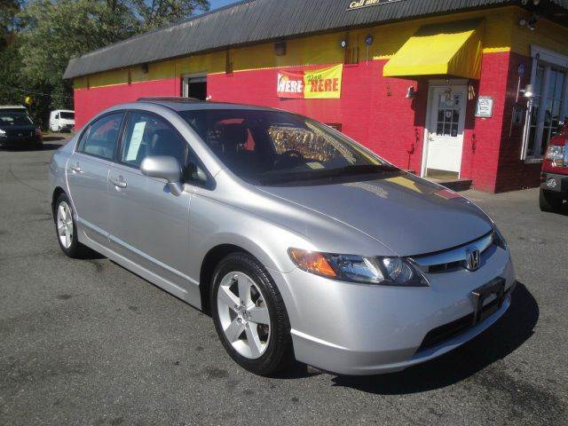 2006 honda civic ex sedan sunroof low miles in fredericksburg va l s auto brokers. Black Bedroom Furniture Sets. Home Design Ideas