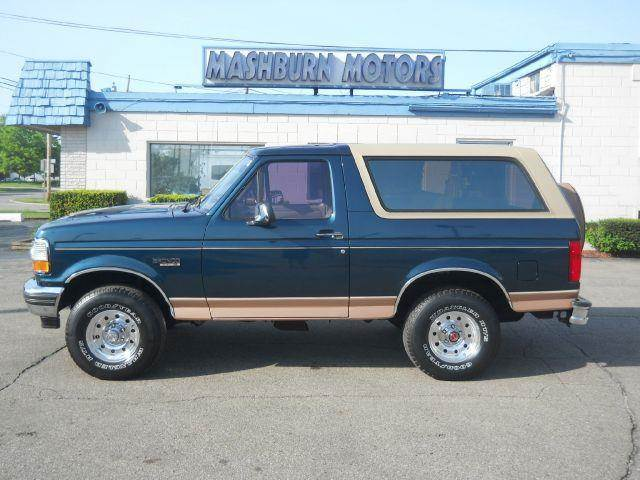 1994 ford bronco 2dr eddie bauer 4wd suv in mount clemens mi mashburn motors. Black Bedroom Furniture Sets. Home Design Ideas