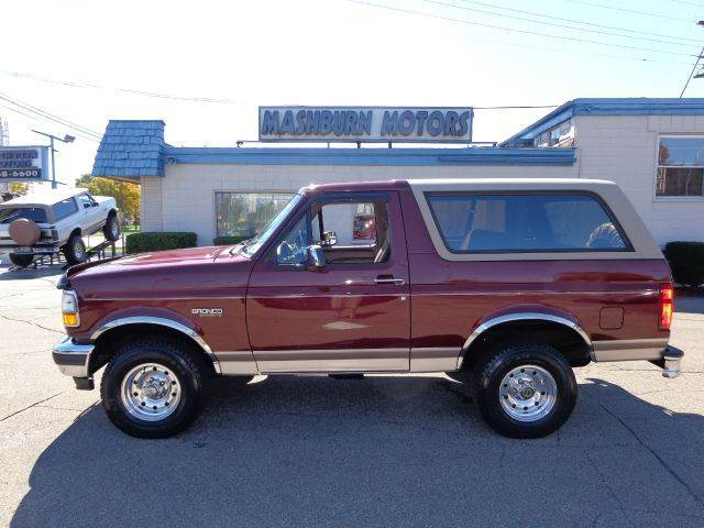 1996 ford bronco 2dr eddie bauer 4wd suv in mount clemens. Black Bedroom Furniture Sets. Home Design Ideas