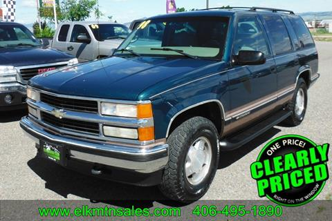 1998 Chevrolet Tahoe for sale in Helena, MT