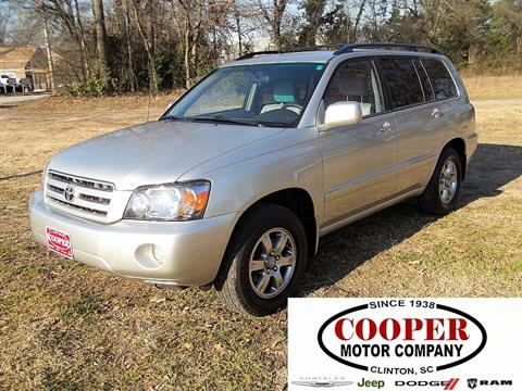 2005 Toyota Highlander for sale in Clinton, SC