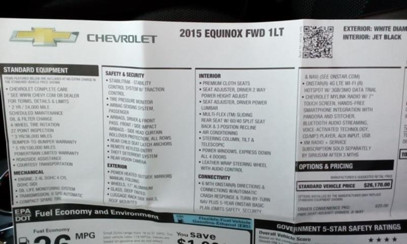2015 Chevrolet Equinox LT 4dr SUV w/1LT - Topeka KS