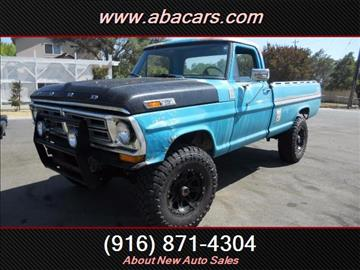 1972 Ford F-250 for sale in Lincon, CA