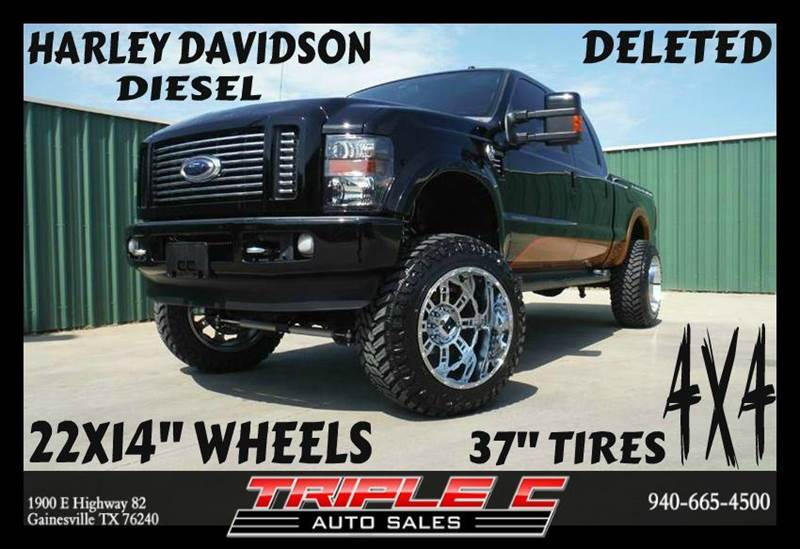 2008 ford f 250 super duty harley davidson crew cab 4x4 in gainesville tx triple c auto sales inc. Black Bedroom Furniture Sets. Home Design Ideas