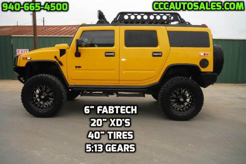 2003 hummer h2 4dr lux series 4wd suv in gainesville tx triple c auto sales inc. Black Bedroom Furniture Sets. Home Design Ideas