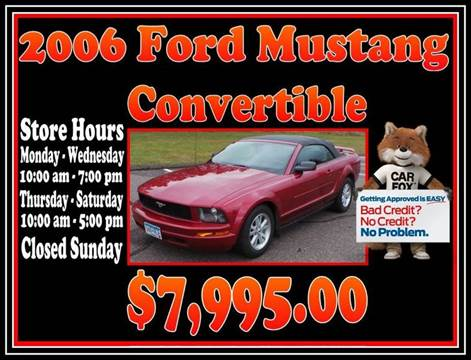 2006 ford mustang for sale in minnesota for Christy motors crystal mn