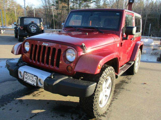 2012 Jeep Wrangler 4x4 Sahara 2dr SUV - Epsom NH