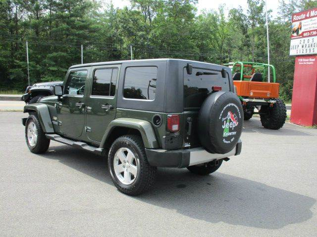 2008 Jeep Wrangler Unlimited 4x4 Sahara 4dr SUV w/Side Airbag Package - Epsom NH