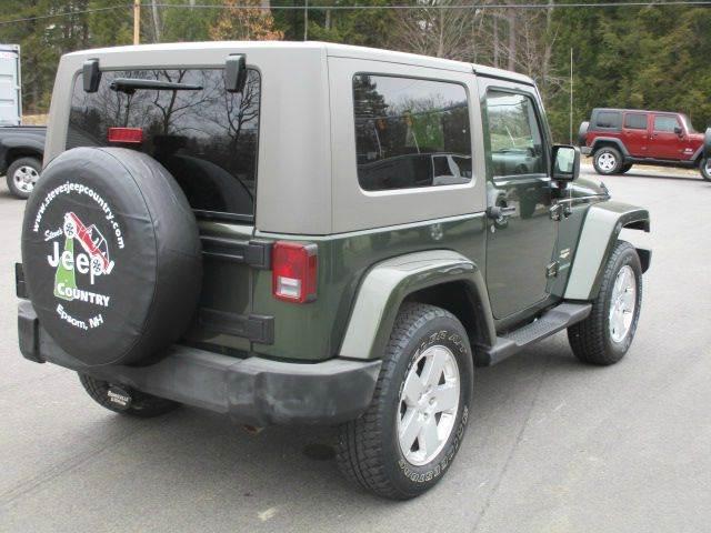 2007 Jeep Wrangler 4x4 Sahara 2dr SUV - Epsom NH