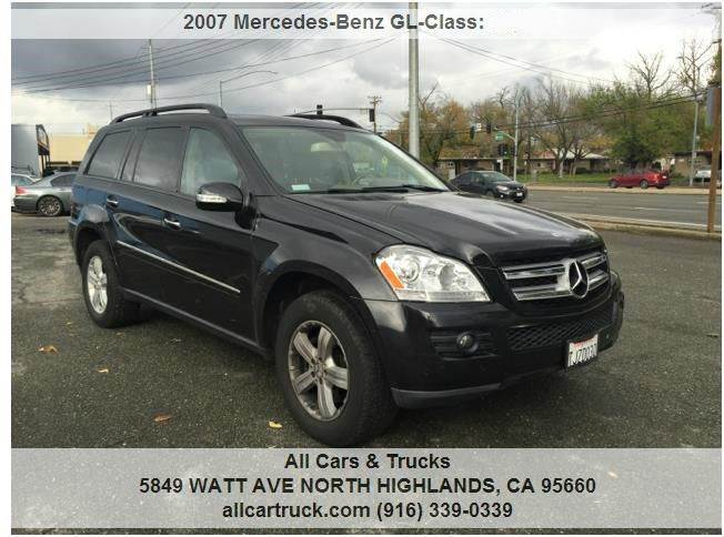 2007 mercedes benz gl class awd gl 450 4matic 4dr suv in north highlands ca all cars trucks. Black Bedroom Furniture Sets. Home Design Ideas