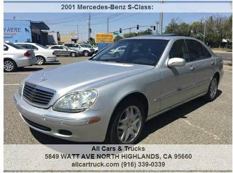 2001 Mercedes-Benz S-Class for sale in North Highlands, CA