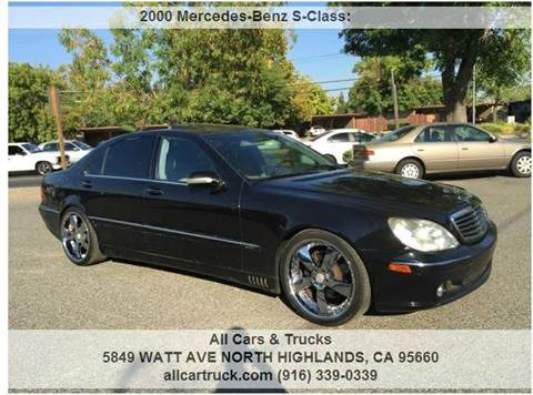 2000 Mercedes-Benz S-Class for sale in North Highlands, CA