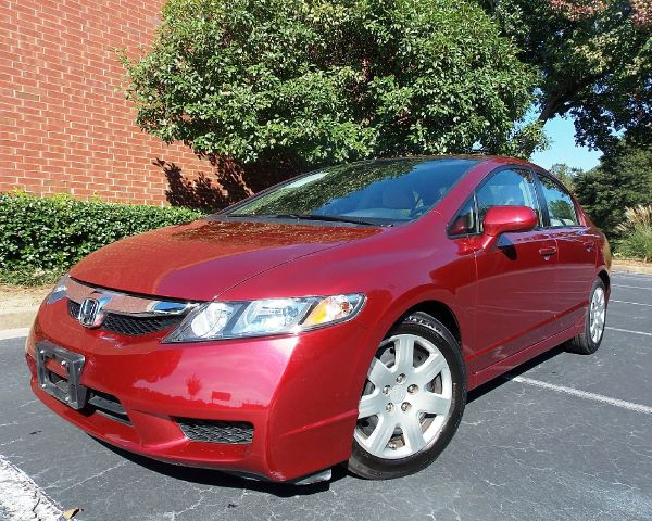 2011 HONDA CIVIC LX SEDAN 5-SPEED AT tango red low miles great condition with ice cold ac cd pl