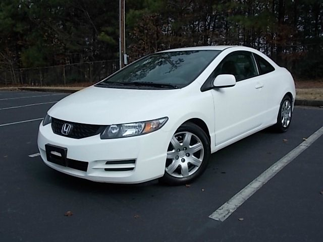 2010 HONDA CIVIC LX COUPE 5-SPEED AT white 2010 honda civic coupe nice and clean comes loaded wi