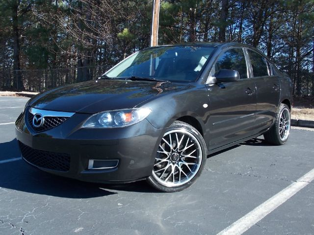 2007 MAZDA 3 I SPORT 4-DOOR black low miles alloy wheels sporty looks also comes equipped with