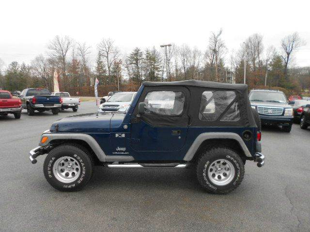 2005 JEEP WRANGLER X 2DR 4WD SUV blue axle ratio - 307 center console - front console with stor