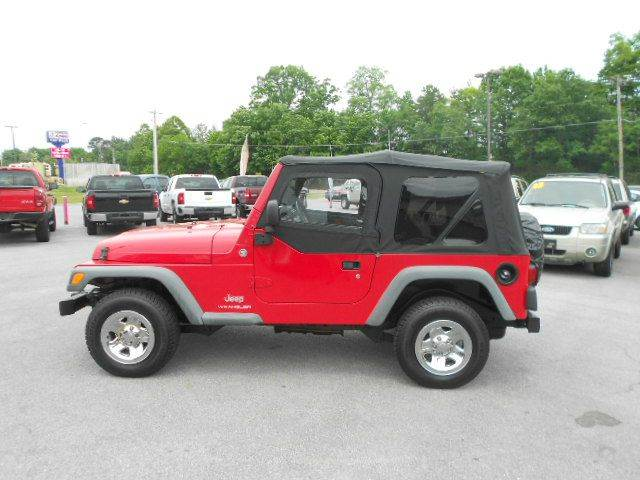 2006 JEEP WRANGLER SE 2DR SUV 4WD red 4wd selector - manual hi-lo 4wd type - part time axle rat