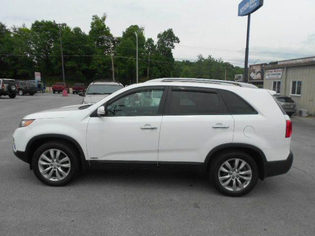 2011 KIA SORENTO EX AWD 4DR SUV V6 white 2-stage unlocking doors 4wd type - on demand abs - 4-