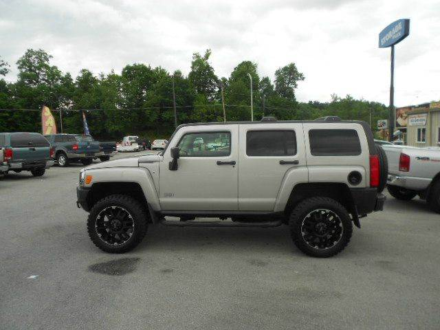 2008 HUMMER H3 BASE 4X4 4DR SUV WLUXURY PACKAG silver 2-stage unlocking - remote 4wd type - ful
