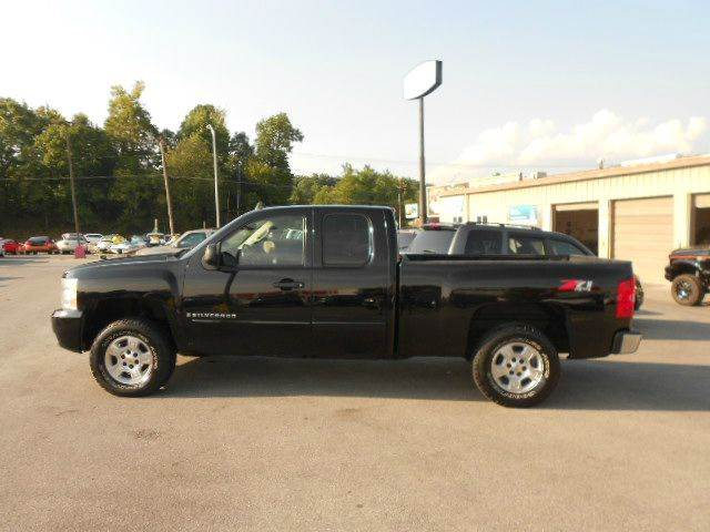 2008 CHEVROLET SILVERADO 1500 4WD 4DR EXTENDED CAB black 4wd type - part time w on demand settin