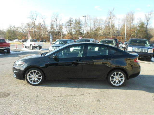2013 DODGE DART RALLYE 4DR SEDAN black 2-stage unlocking doors abs - 4-wheel active head restra