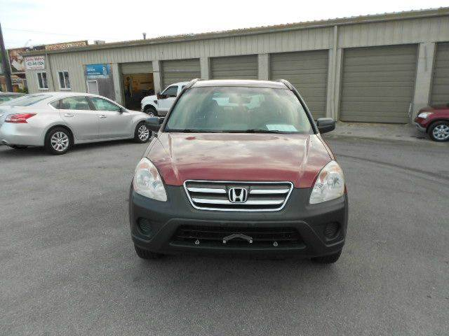 2006 HONDA CR-V LX AWD 4DR SUV red abs - 4-wheel air filtration airbag deactivation - occupant