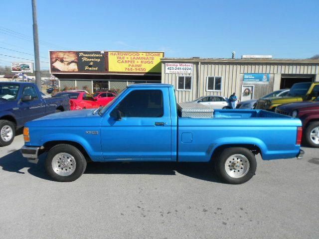 1992 FORD RANGER XLT 2DR STANDARD CAB SB blue abs - rear bumper detail - rear step bumper casset