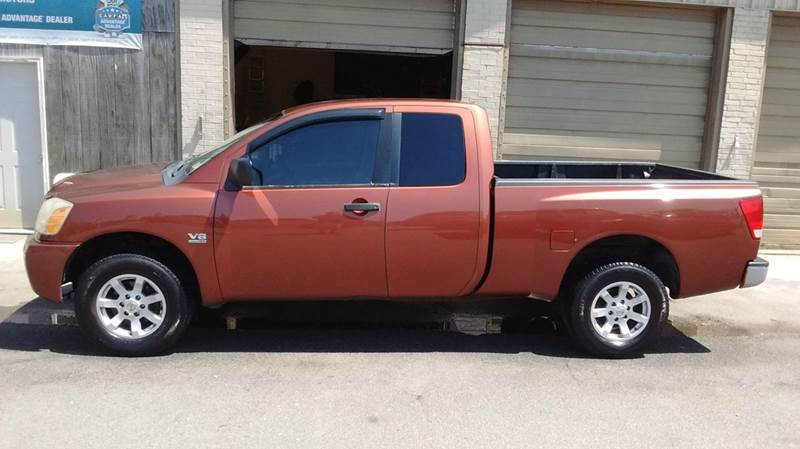 2004 NISSAN TITAN LE 4DR KING CAB 4WD SB bronze abs - 4-wheel adjustable pedals - power anti-th