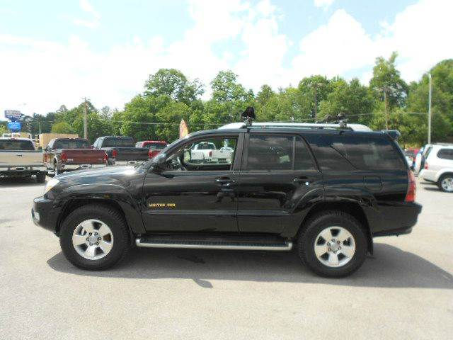 2003 TOYOTA 4RUNNER LIMITED 4WD 4DR SUV black abs - 4-wheel anti-theft system - alarm axle rati