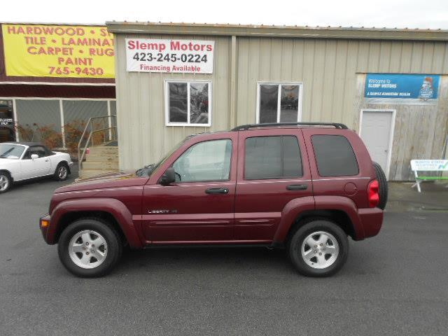 2003 JEEP LIBERTY LIMITED 4WD 4DR SUV maroon axle ratio - 373 center console clock cruise cont
