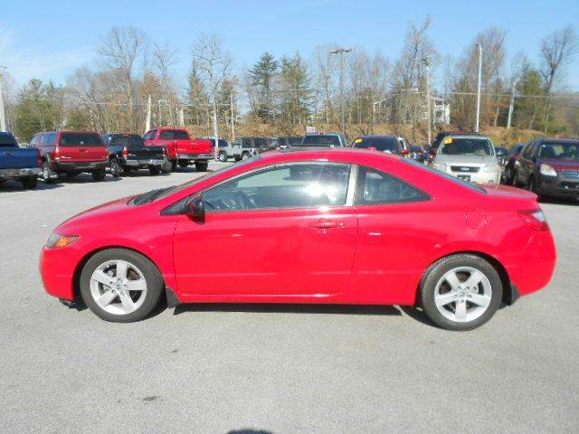 2007 HONDA CIVIC EX 2DR COUPE 18L I4 5A red 2-stage unlocking doors abs - 4-wheel active hea