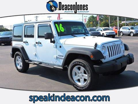 2016 Jeep Wrangler Unlimited for sale in Smithfield, NC