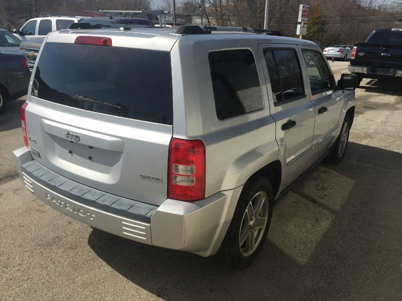 2008 Jeep Patriot 4x4 Limited 4dr SUV w/CJ1 Side Airbag Package - Braintree MA