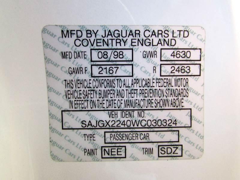 1998 Jaguar XK-Series XK8 2dr Convertible - Fort Myers Beach FL