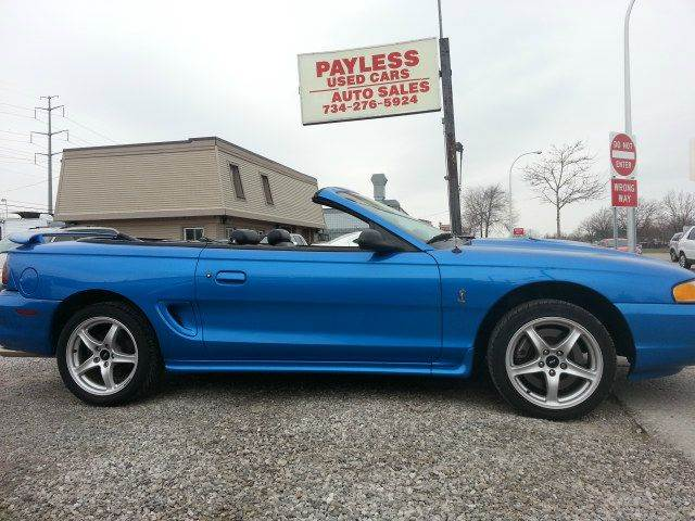 1998 ford mustang svt cobra in wayne mi payless used cars. Black Bedroom Furniture Sets. Home Design Ideas