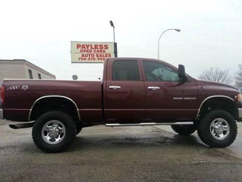 2003 Dodge Ram Pickup 2500 for sale in Wayne, MI