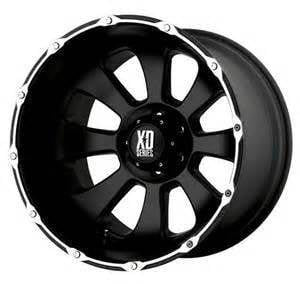 2017 XD Wheels 22x14 Armour Black