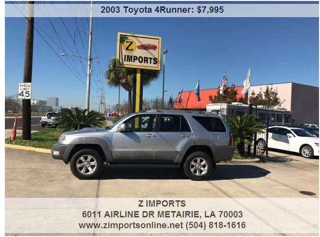 2003 Toyota 4Runner Sport Edition 4dr SUV - Metairie LA