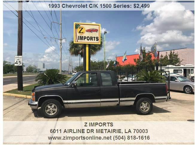 1993 Chevrolet C/K 1500 Series C1500 Cheyenne 2dr Extended Cab SB - Metairie LA