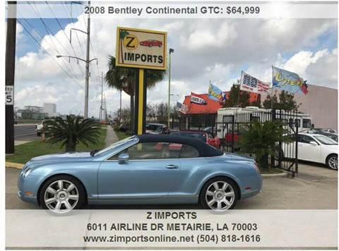 2008 Bentley Continental GTC for sale in Metairie, LA